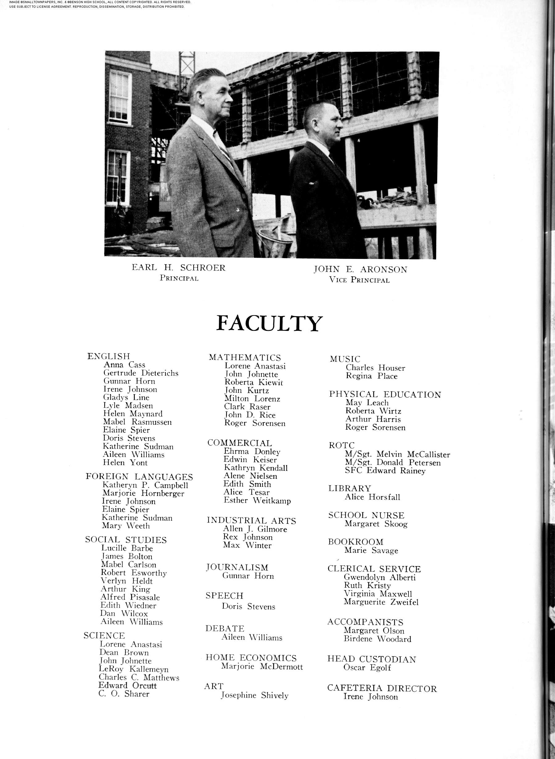 Benson High Yearbook The Cupola June 1, 1959: Page 6